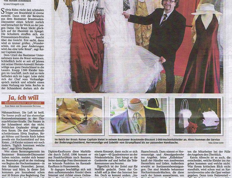 BrautmodeOutlet Bautzen Outlet Brautmode Print Sächsische Zeitung