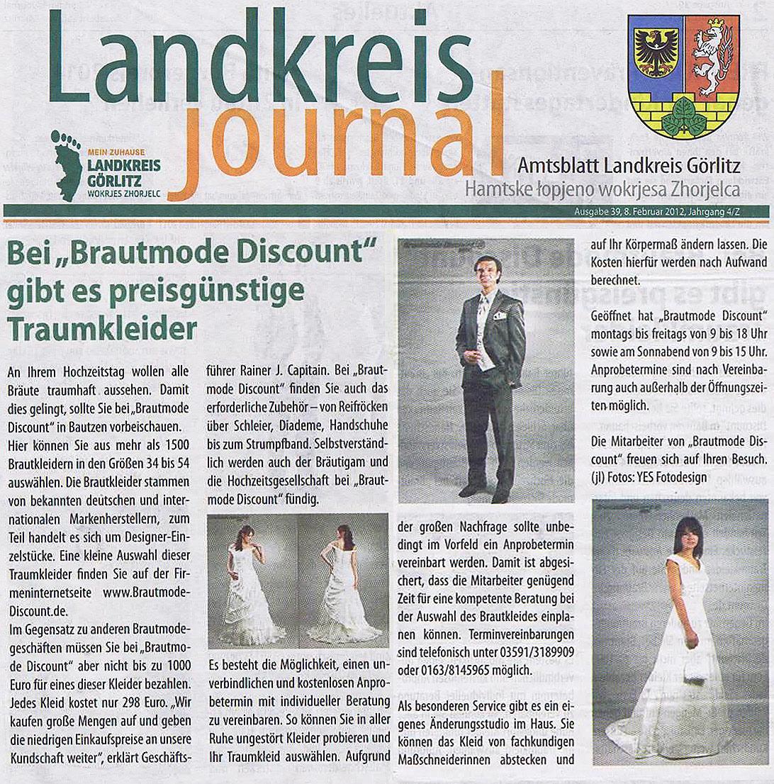 BrautmodeOutlet Bautzen Outlet Brautmode Print Landkreis Journal 2012