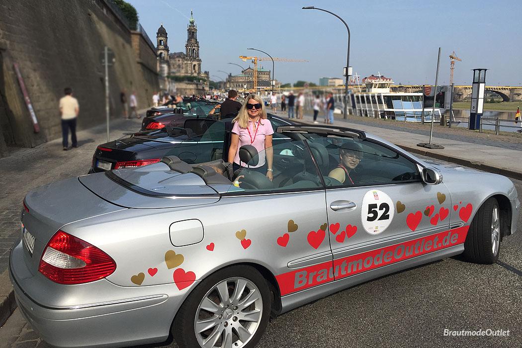 MOPO Rallye 2018 BrautmodeOutlet Cabrio Elbufer