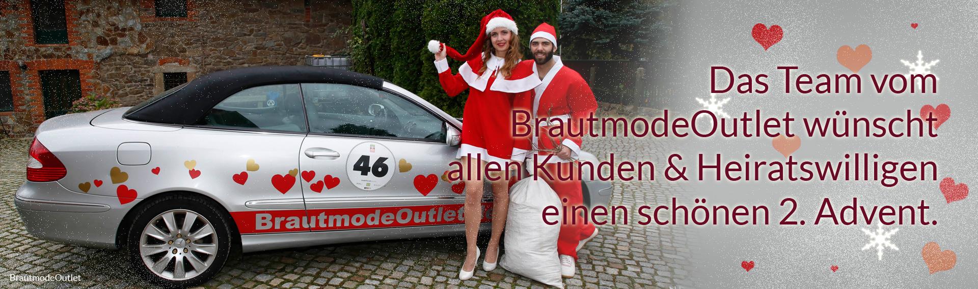 Brautmode Outlet Bautzen Brautkleid Weihnachtsmann Weihnachtsfrau 2. Advent